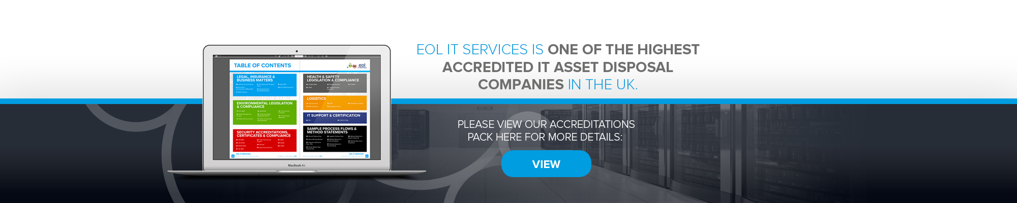 EOL Is The UK's highest accredited ITAD | Our Accreditations