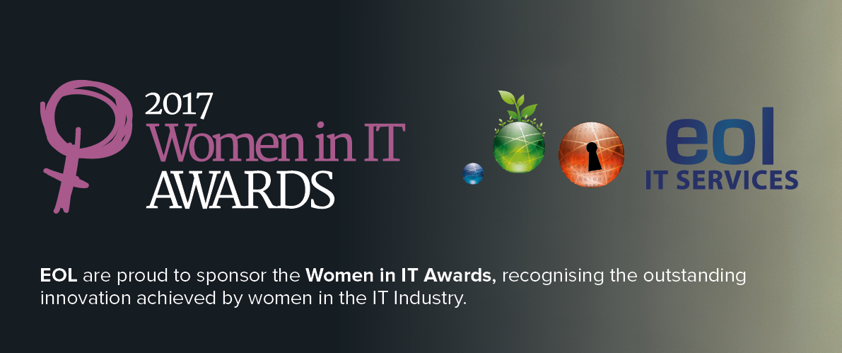 """Finalist recognition for Jan Smith of EOL at """"Women in IT Awards""""."""