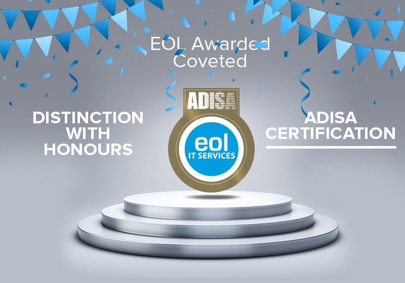 EOL Awarded Coveted Distinction with honours adisa certification